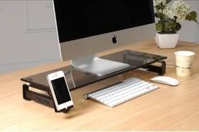☆幸運草精緻生活館☆SH-112防爆玻璃多功能螢幕架 插座*2+USB*3 台灣精品