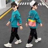 兒童套裝男童秋裝帥氣套裝春秋2020  大童 衛衣 男孩洋氣10 歲13VB 歐歐