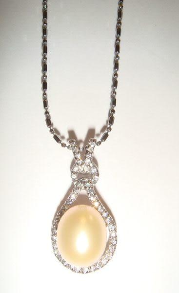 珍珠項鍊 la tulipe 鬱金香系列 ( 鵝黃色)