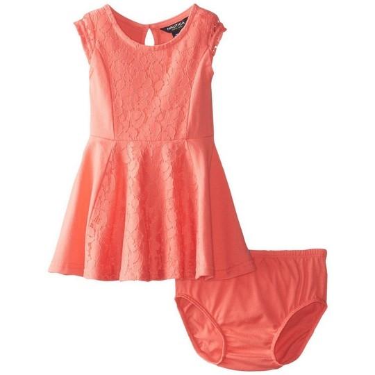 【北投之家】女寶寶洋裝二件組 無袖背心裙+內褲 品紅 | Nautica童裝 (嬰幼兒/兒童/小孩)