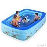 嬰兒游泳池充氣加大家庭游泳池嬰幼兒童寶寶浴盆海洋球池 QQ28475『bad boy』