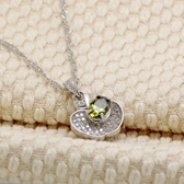 項鍊 925純銀鑲鑽吊墜-優雅大方生日聖誕節交換禮物女飾品3色73fy99【時尚巴黎】