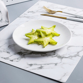 北歐風大理石紋皮革質感桌上餐墊