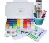 顏料學生集訓用60色水粉畫色彩美術用品果凍水粉顏料HLW 交換禮物