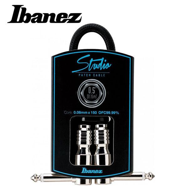 小叮噹的店-全新 IBANEZ HF05P-BK WOVEN 編織 0.5呎 短導線 雙L頭 公司貨