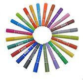 12色18色雙頭彩色油性記號筆勾線筆快遞物流美術大頭筆馬克筆【極有家】