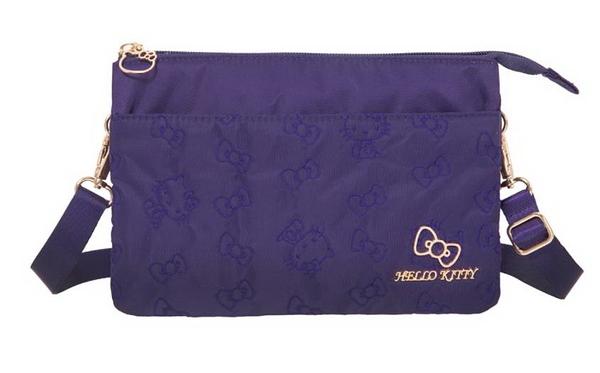 Hello Kitty - 快意之旅-三層側背包(大)-紫 KT01R07PL