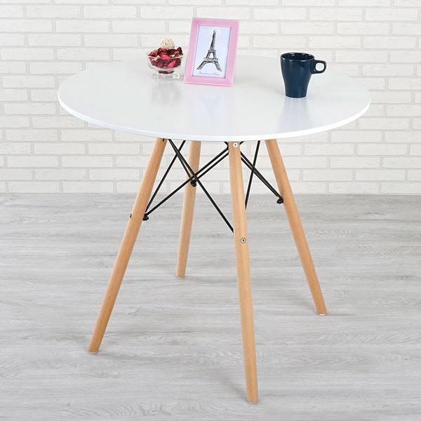 YoStyle 菲爾造型圓桌(亮麗白) 咖啡桌 接待桌 工作桌 咖啡廳