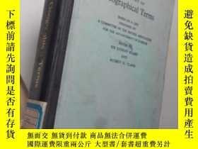二手書博民逛書店A罕見Glossary of Geographic terms【