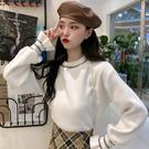 外穿慵懶毛衣女秋冬2019新款寬鬆白色打底針織衫內搭加厚韓版上衣