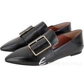 BALLY Hamelia 小牛皮穿釦設計尖頭皮鞋(零碼37號/黑色)1920543-01