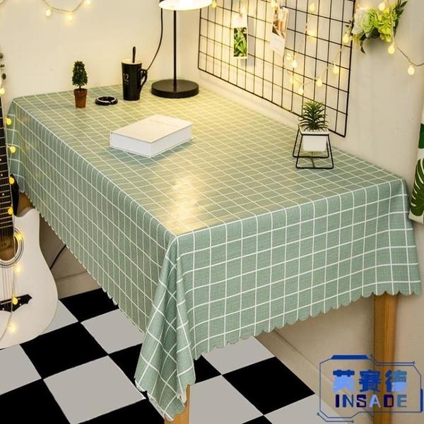 茶幾桌布防水防油免洗防燙歐式長方形pvc餐桌布【英賽德3C數碼館】