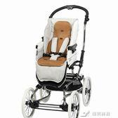 嬰兒推車座墊涼席寶寶通用透氣藤席寶寶兒童手推車座墊 樂芙美鞋