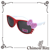 【Chimon Ritz】帥氣貓兒童太陽眼鏡-紅白