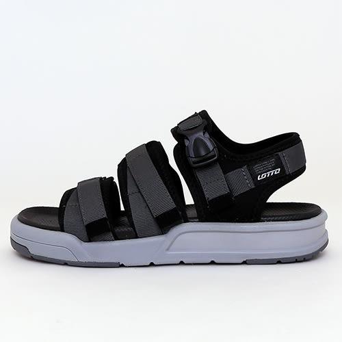 男女款 LOTTO 寬帶厚底魔鬼氈運動涼鞋 輕量大底 排水防滑 59鞋廊