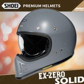 [中壢安信]日本 SHOEI EX-ZERO 素色 水泥灰 全罩 安全帽 復古越野 山車帽 哈雷