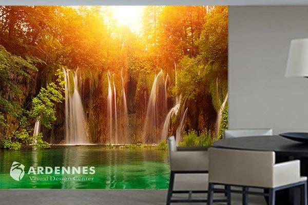 【ARDENNES】防水壁貼 壁紙 牆貼 / 霧面 亮面 / 瀑布山水系列 NO.P039
