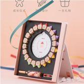 兒童乳牙盒紀念盒創意實木男女孩牙齒收納瓶寶寶換牙胎毛收藏盒子CC4617『毛菇小象』
