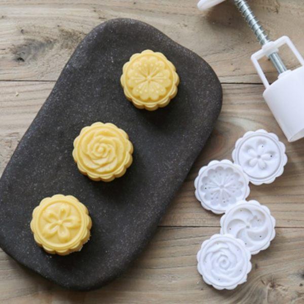 月餅模 餅乾模 50g  桃山立體花月餅模 冰皮月餅模 廣式月餅模  想購了超級小物