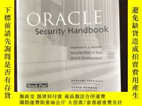 二手書博民逛書店Oracle罕見Security Handbook : Implement a Sound Security Pl