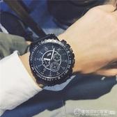 手錶嘻哈男歐美大錶盤學生潮流初中生高中個性韓版簡約電子機械錶 圖拉斯3C百貨