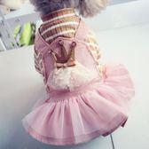 貴賓犬比熊泰迪狗狗衣服寵物春夏秋裝春天季母狗公主裙子連身裙