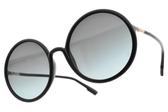 Dior太陽眼鏡 SOSTELLAIRE3 8071I (黑-漸層藍鏡片) 精緻優雅圓框款 #金橘眼鏡