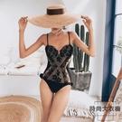 連體泳衣女性感三角時尚網紅顯瘦小胸聚攏比基尼【時尚大衣櫥】