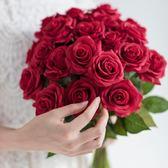 花束手感保濕仿真玫瑰花束裝飾花絹花干花花束客廳假花仿真花花瓶擺件·樂享生活館liv