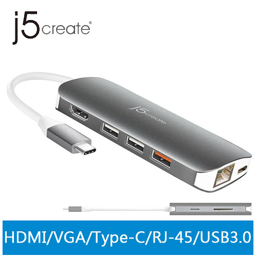 j5create JCD384 USB Type-C 10合1擴充基座