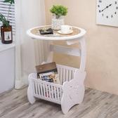 床頭柜現代簡約北歐式床頭柜臥室小圓桌客廳茶幾 莎瓦迪卡