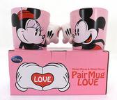 米奇&米妮LOVE對杯 迪士尼 Disney ( SAN2149 ) 情人送禮 禮物 【金玉堂文具】