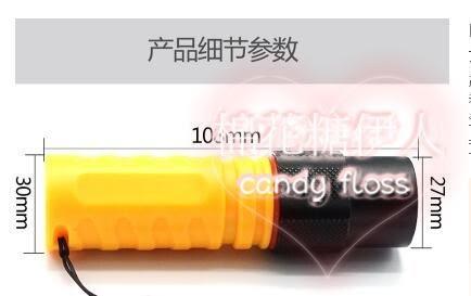 LED迷你專業強光手電筒xx3246【棉花糖伊人】TW