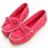 【MINNETONKA】 莫卡辛休閒平底鞋-粉紅色 女鞋 展示品