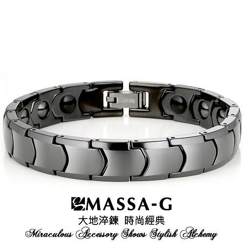 黑色浪漫 精密陶瓷健康手鍊-MASSA-G