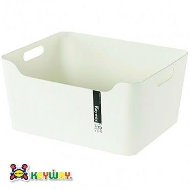 KEYWAY 大比利整理收納盒 白色款 KY-636 36.5x29.5x17.7cm