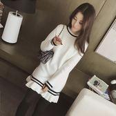 秋冬裝針織衫女套頭長袖T恤修身上衣內搭包臀打底衫中長款連衣裙