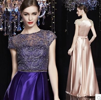 宴會晚禮服長款紫色敬酒禮服新娘大碼晚宴年會晚禮服晚裝-mana003