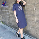 American Bluedeer-【春夏降價款】長版印花洋裝(魅力價) 春夏新款
