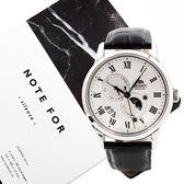 ORIENT 東方錶 SAK00002S 日相 月相 機械錶 男錶 銀/42mm