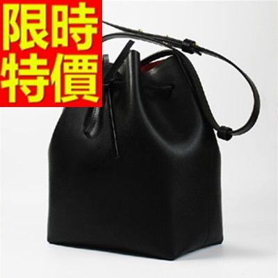 水桶包-可側背個性百搭皮革女肩背包8色(小)58o37【巴黎精品】