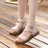 雙12好禮 羅馬涼鞋女童鞋子2018夏季新款韓版女童涼鞋中大童學生兒童沙灘鞋