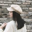 貝雷帽帽子棉麻女報童帽畫家英倫女士百搭鴨舌帽日系八角帽  蘿莉小腳ㄚ
