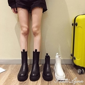 馬丁靴女2020年瘦網紅新款煙筒切爾西短靴單靴厚底英倫風春秋靴子 范思蓮恩