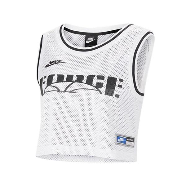Nike 運動背心 NSW Cropped Jersey 白 黑 女款 短版 球衣 運動休閒 【ACS】 CU6786-100