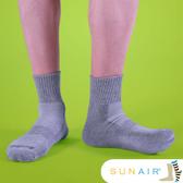 sunair 滅菌除臭襪子- 標準型運動襪1/2筒L(25~29) (灰) /SA1702