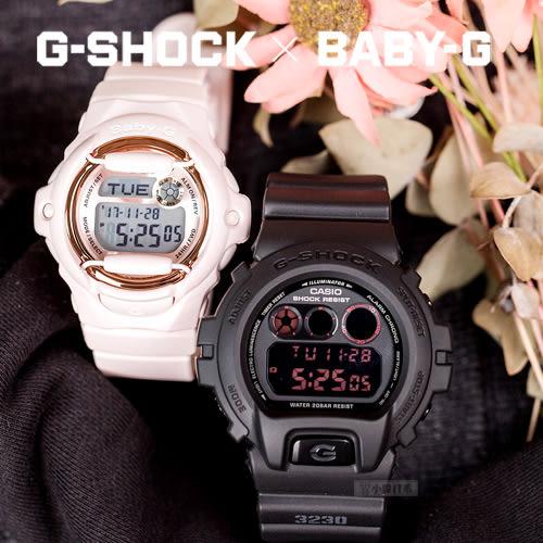 G-SHOCK x Baby-G 甜蜜情人對錶 DW-6900MS-1DR_BG-169G-4BDR