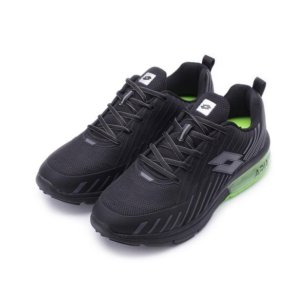 LOTTO 疾風KPU氣墊跑鞋 黑綠 LT7080 男鞋 鞋全家福