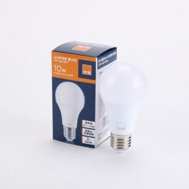 特力屋10W晝光色廣角LED燈泡全電壓E27燈頭