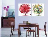 冰晶玻璃抽象幸福樹搖錢發財樹裝飾畫壁畫墻畫餐廳無框畫客廳臥室LG-67207